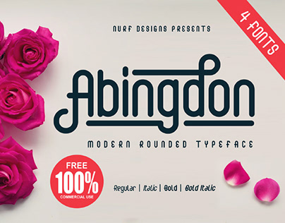 FREE | Abingdon Modern Rounded Typeface
