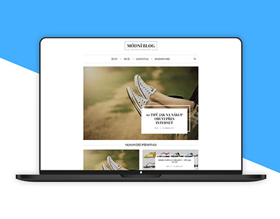 Modní blog - redesign + WordPress theme