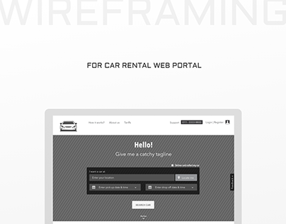 Wireframing - Car Rental