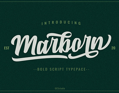 Marborn Bold Script Typeface modern