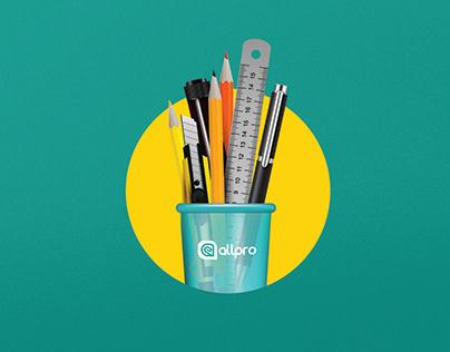 Allpro - Logo, Branding, Social Media Post and Website
