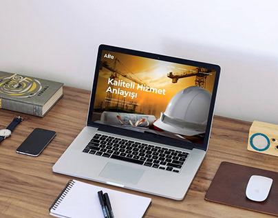Alfa Yapı Web Design