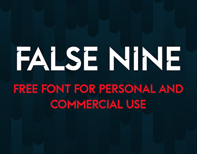False Nine: free font personal and commercial use