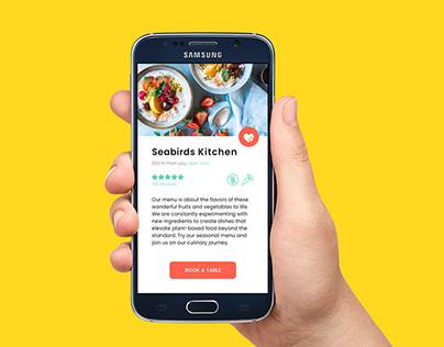 Booking app for restaurant