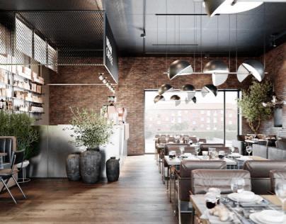 New Cafe in Herlev Copenhagen - Design by 3D-Vizual