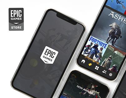 Epic Games Store Mobile App Design