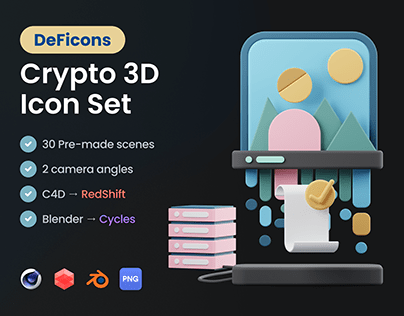 DeFicons - Crypto 3D Icon Set