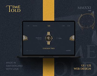 Time Told UI/UX Website Design - Teksun Inc