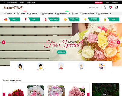 HappySTEMS - Diwali or Christmas, send flowers and gift