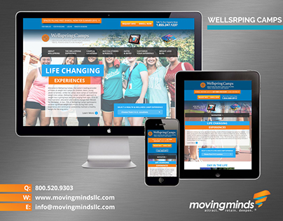 Wellspring Camps Web Site Redesign