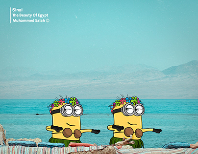 Minions' summer vacation in Egypt