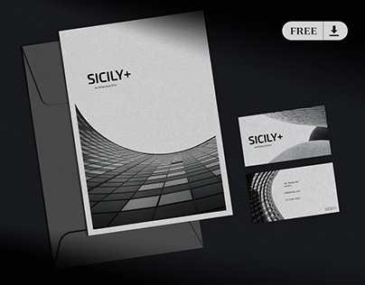 [FREE] Branding & Stationery Mockup Dark Mode