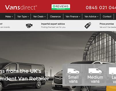 Website Redesign (UI) www.vansdirect.co.uk/