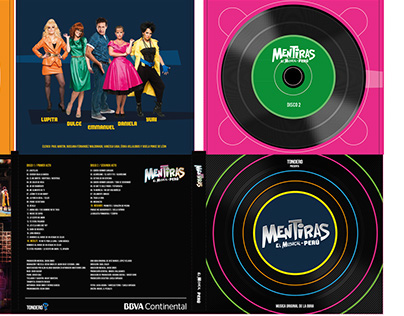 Design and branding for the play 'Mentiras' in Peru