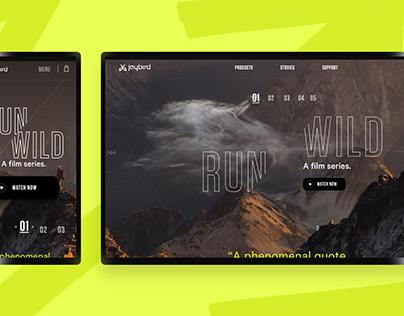 Jaybird Web Branding + UI
