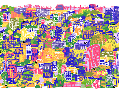 Finding Cats, colorful version