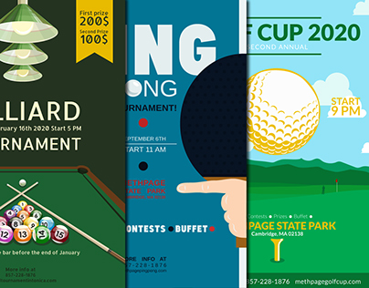 Posters for tournaments