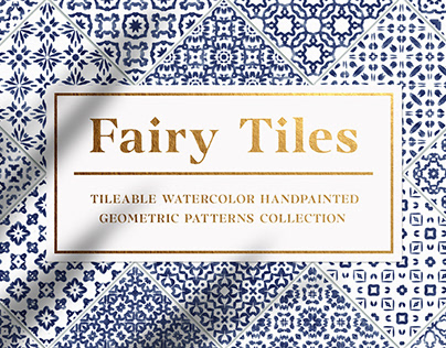 Fairy Tiles vol.1 - Watercolor Seamless Patterns