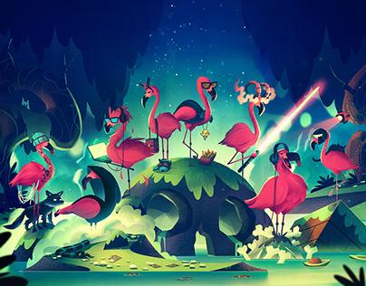 Toxic Flamingos