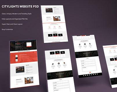 Citylights Website PSD