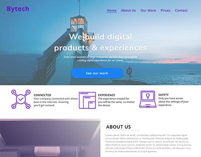 Landing Page - Fictional Tech Companhy