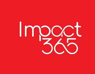 Impact365 logo design