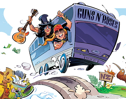 Guns 'n' Roses Oz & NZ Tour - for Billboard
