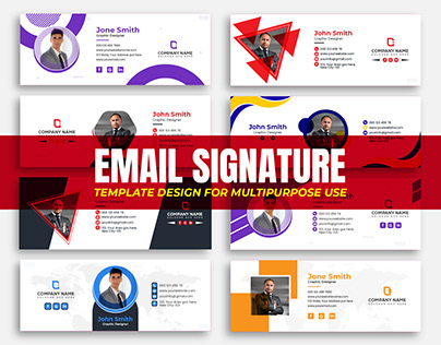 Email Signature template Design or Email footer Design