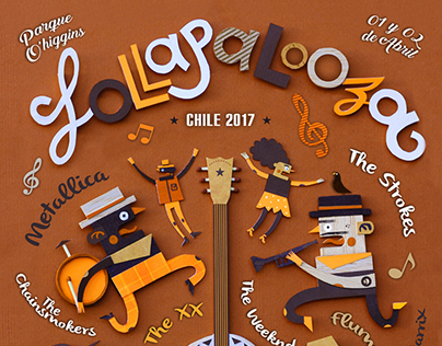 Afiche Lollapalooza 2017