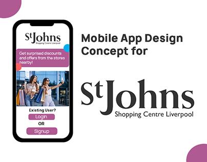 Mobile App Design Concept for St.Johns Shopping Centre