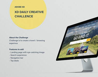 TRAVEL WEBSITE - XD DAILY CREATIVE CHALLENGE