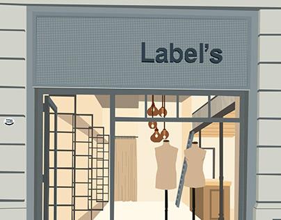 Ilustración Labels tienda