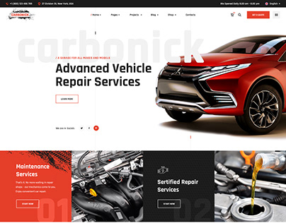 Carbonick - Auto Services & Repair WordPress Theme