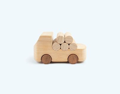 La Boscaiola - wooden toy car for Tobeus