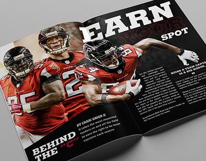 Atlanta Falcons Gameday Magazine Spreads