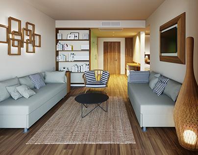 Hotel rooms -development vizualization