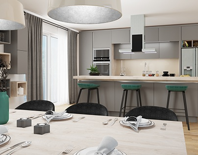 Interior visualization of Kitchen