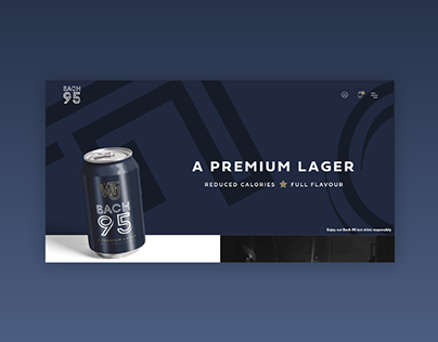 Premium beer web design