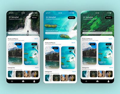 Travel App Design UI Concept