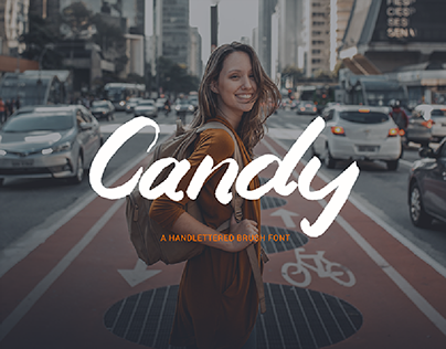 Candy-A Handlettered Brush Font