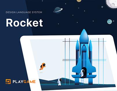 ROCKET - Design Language System - UI Kit - UI/UX