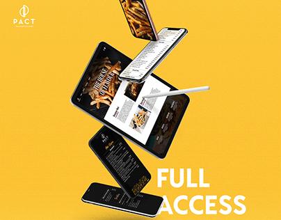 UI/UX Design - Restaurant Website Interface & Menus