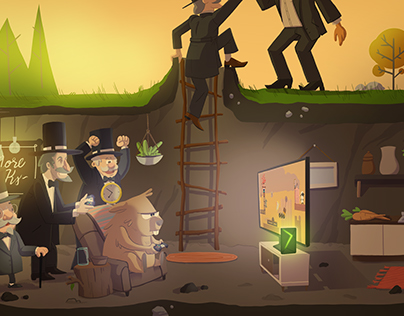 Ground Hogs Day Illustration