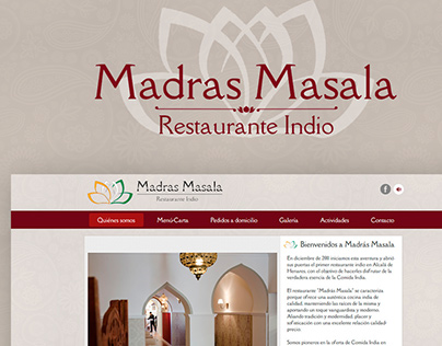 Indian Restaurant Madras Masala, Madrid. Web Design