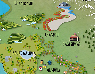 Map Illustrations of Indian States