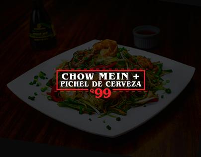 CHOW MEIN + CERVEZA - JK MING