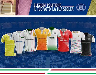 Italian political parties jersey