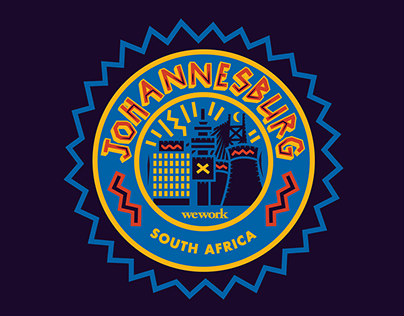 WeWork Location Sticker - Johannesburg South Africa