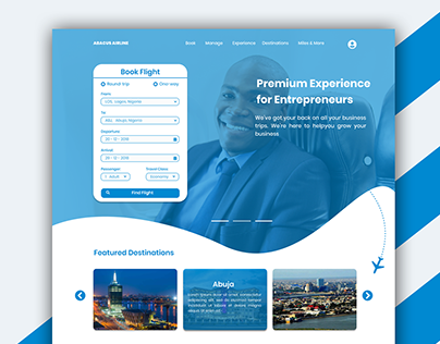 Abacus Airlines Landing Page