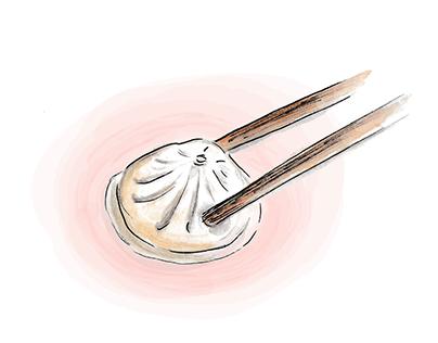 Illustrated recipe for Gambero Rosso Magazine